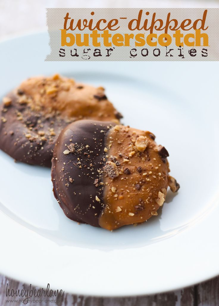 twice dipped butterscotch sugar cookies These look so good!