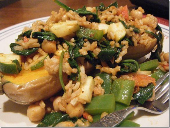Veggie, Rice & Bean Stuffed Butternut Squash - fANNEtastic food ...