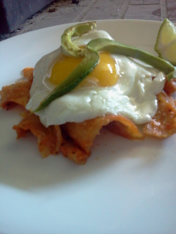 Our homemade chilaquiles | recipes | Pinterest