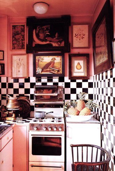 Rose colored kitchen #pink  Kitchens  Pinterest