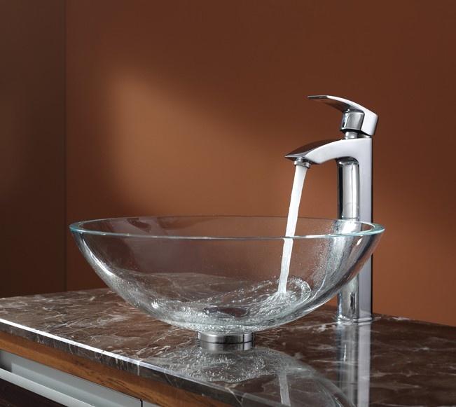 Clear Vessel Sink : Crystal Clear Glass Vessel Sink Bathroom Dreams Come True Pintere ...