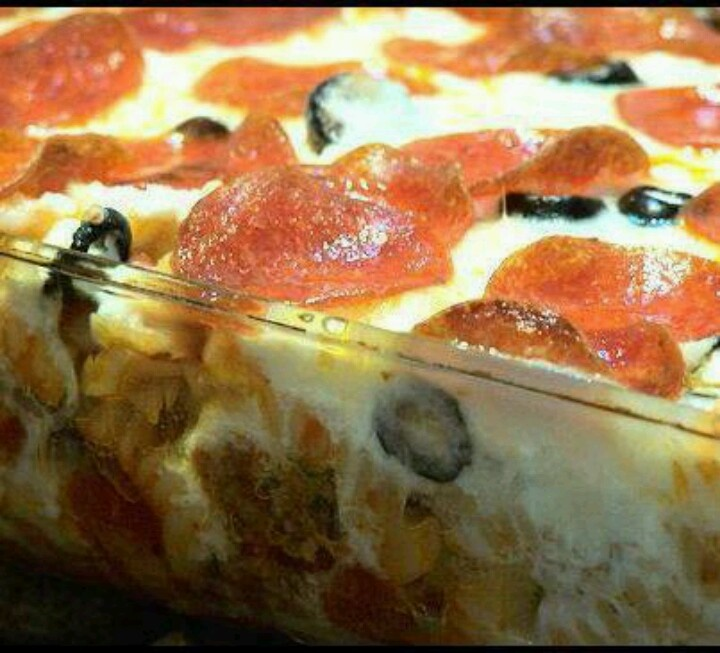 pepperoni pizza casserole | Recipes & Food | Pinterest