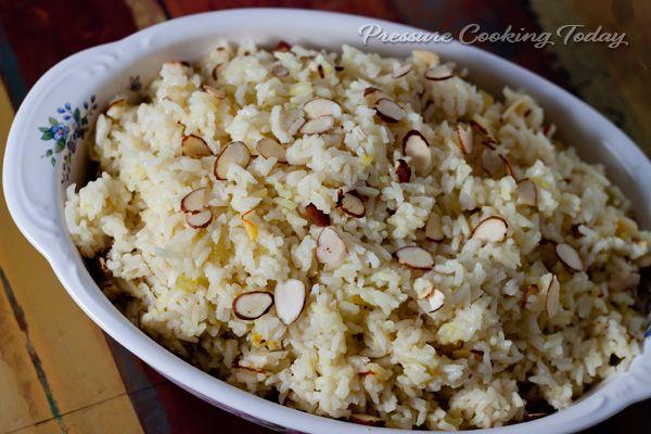 Saffron Almond Rice Pilaf | Recipe