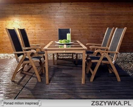 krzesła i stół na taras