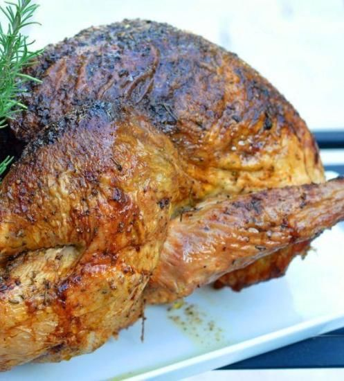 Brined Turkey with Fine Herb Butter for Easter dinner. #Easter #turkey ...