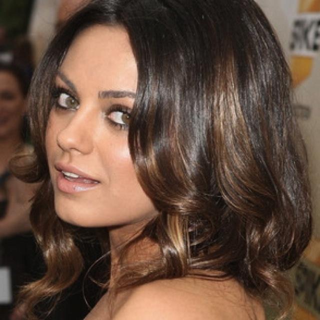 copper highlights for warm brunettes : Color : Pinterest