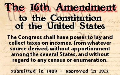 16th amendment 168 our constitution sixteenth amendment timeline 1862 1894 1924 1895 1927 congress creates an income tax to fund the civil war congress sets up.