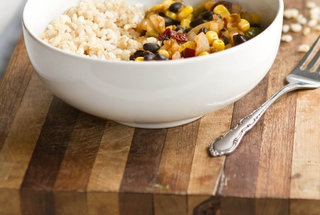 chipotle black bean, corn, and rice bowl