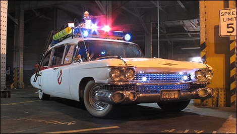 The Ghost Busters - 1959 Cadillac Miller-Meteor limo-style endloader combination car (ambulance conversion) #oldtimer