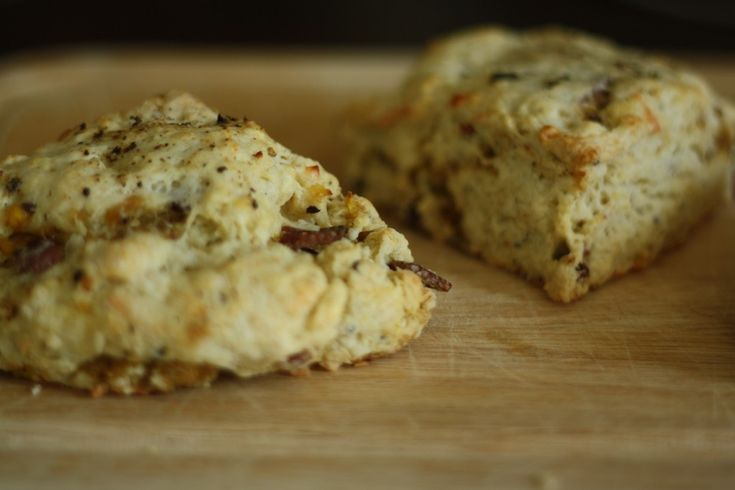 Bacon, egg and cheese scones.