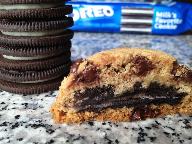 Oreo Stuffed Chocolate Chip Cookies | yummy in my tummy desserts | Pi ...