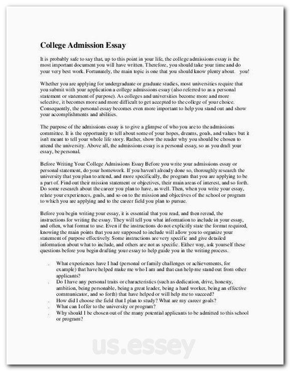 Sample College Application Essay 1 - Get Ready for