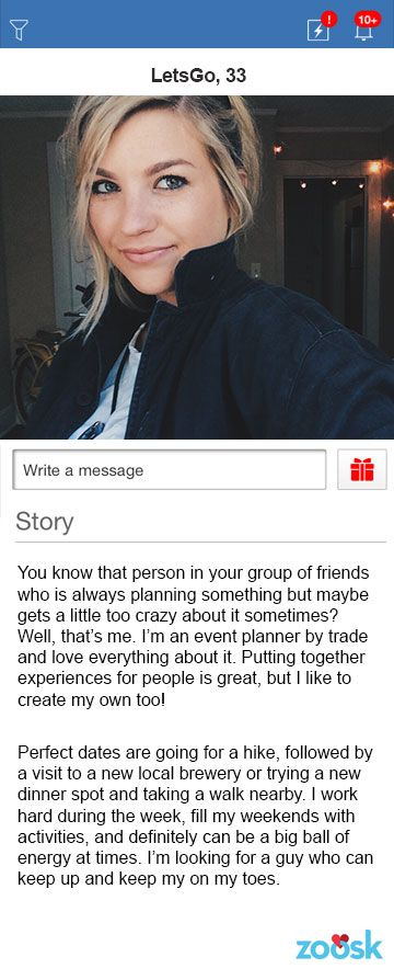 Create great dating profile