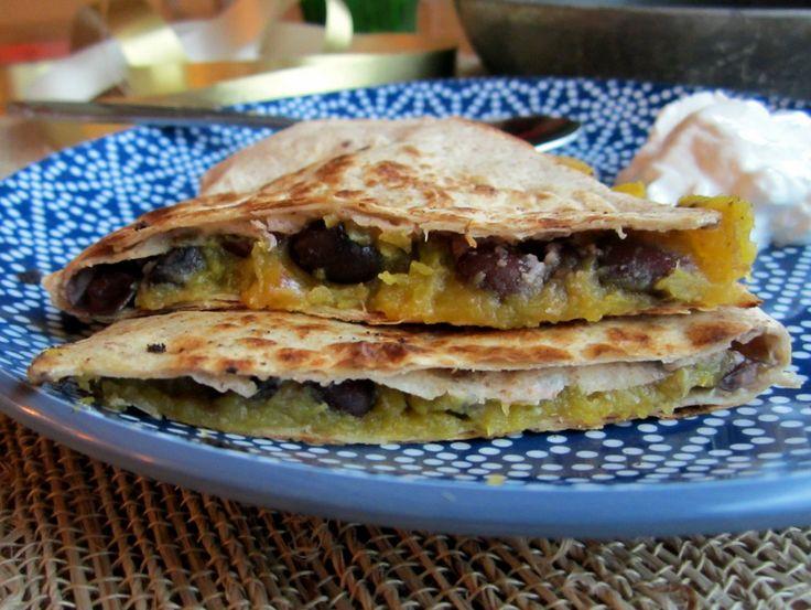 Squash & Black Bean Quesadillas | Ambitious Kitchen use goat cheese ...