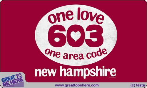 New hampshire area code 603 t shirt new hampshire pinterest