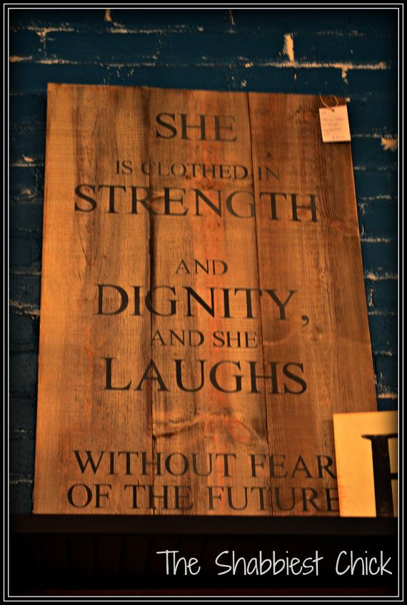 She is Clothed in Strength and Dignity by TheShabbiestChick, $69.00