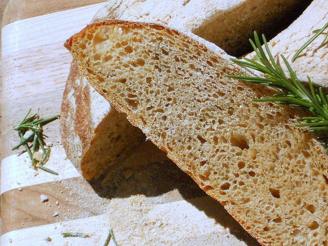 Rosemary ciabatta bread...I literally eat this almost everyday(: with ...