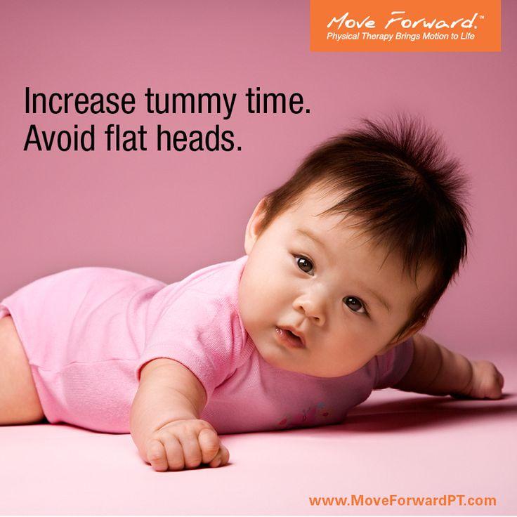 Increase tummy time. Decrease flat head syndrome.