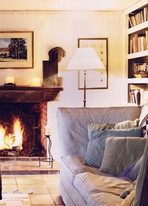fireplace in a cozy living room home pinterest