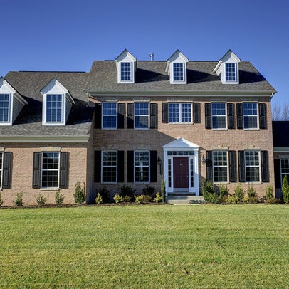 Brick Front Colonial Design Ideas, Pictures, Remodel, and Decor