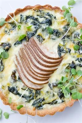 20 Yummy Swiss Chard Recipes (swiss chard pear and comté tart)