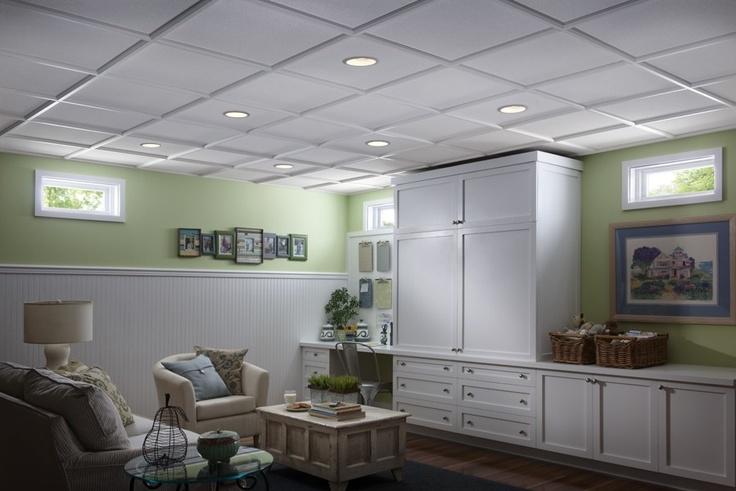 dropped ceiling ideas basement decorating pinterest