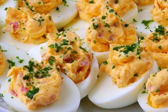 bacon cheddar deviled eggs 5965 575x383 10 Deviled Egg Variations