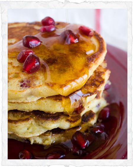 Orange pomegranate pancakes!! | FOOD! | Pinterest
