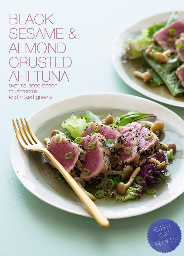 sesame-almond-crusted-ahi-tuna | When I Get Around to Cooking ! | Pin ...