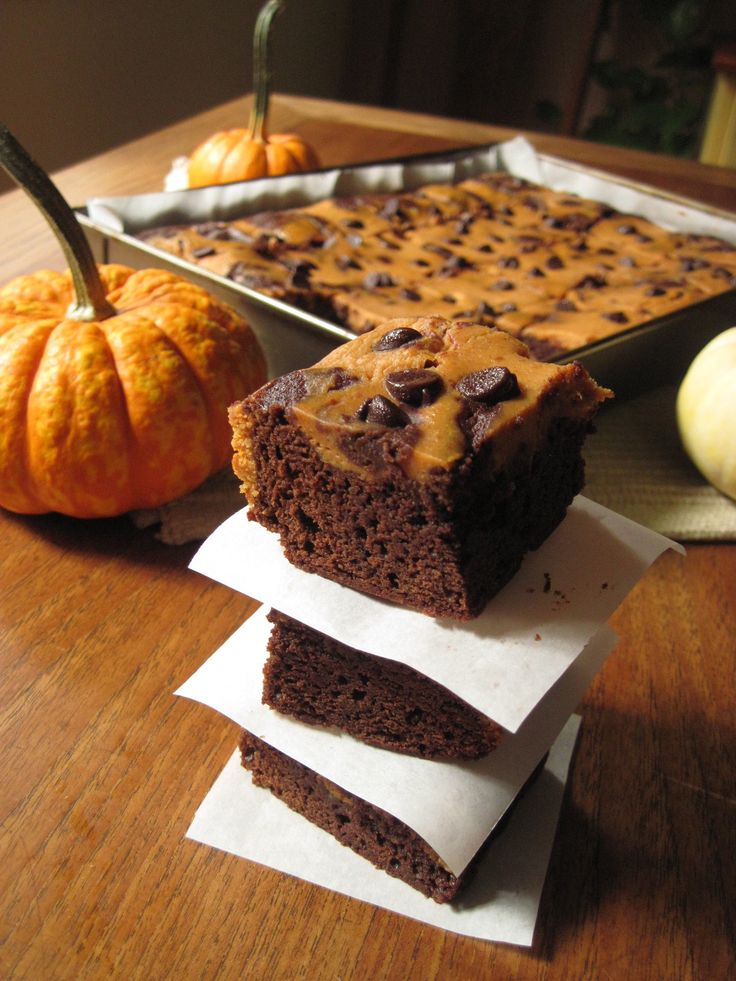 Pumpkin Cheesecake Brownies | Brownies & Bar Cookies | Pinterest