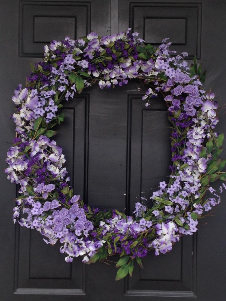 easy to make spring wreath front door pinterest