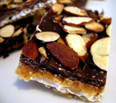 Chocolate-caramel crackers. So good my friends and I just call it ...