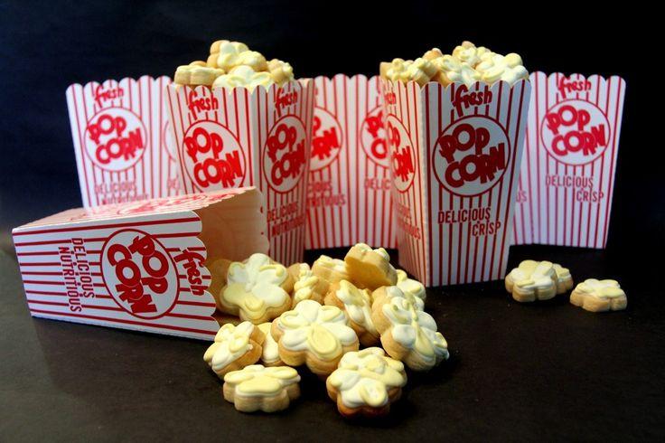 Popcorn cookies. Darling! | Food cookies | Pinterest