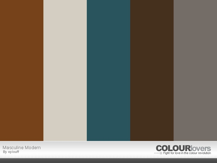 Masculine modern paint color schemes pinterest Masculine paint colors