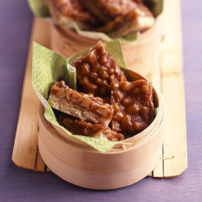 Caramel Praline Walnut Bars