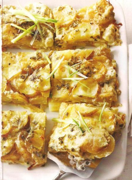 Cheesy garlic potato gratin Recipe   Mmmmmmm   Pinterest