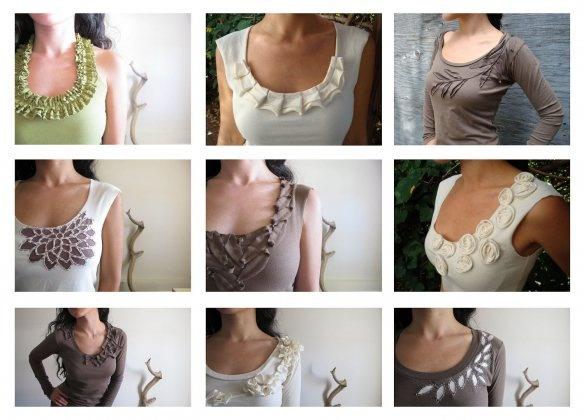 ideas for embellishing T shirts