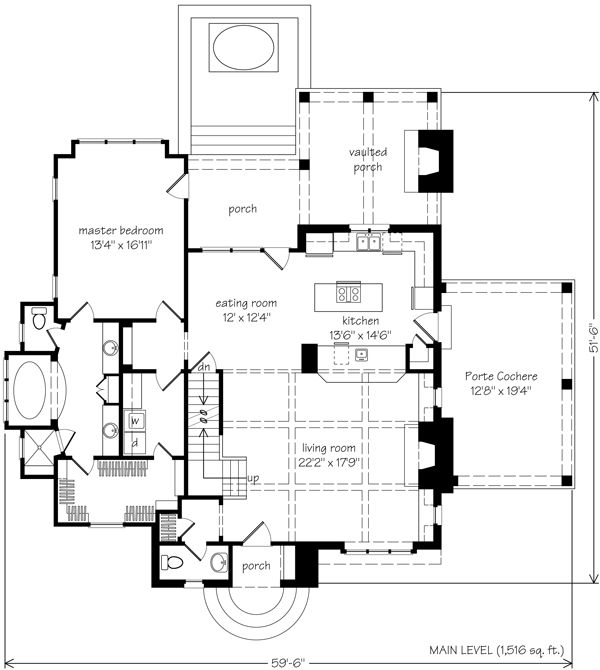 Southern living honeymoon cottage architecture for Southern living cottage floor plans