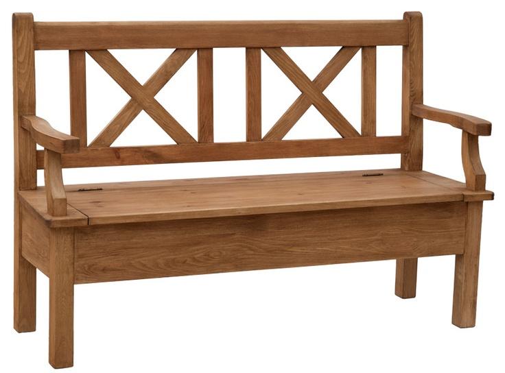 Śliczna ławka - meble lite drewno kolor: orzech