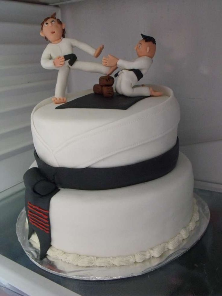 Karate Cake Design : Karate cake Karate birthday ideas Pinterest