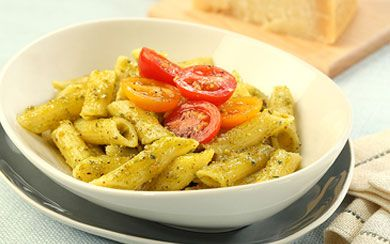 Barilla® Gluten Free Penne with Cherry Tomato Salad and Basil-Pistach ...