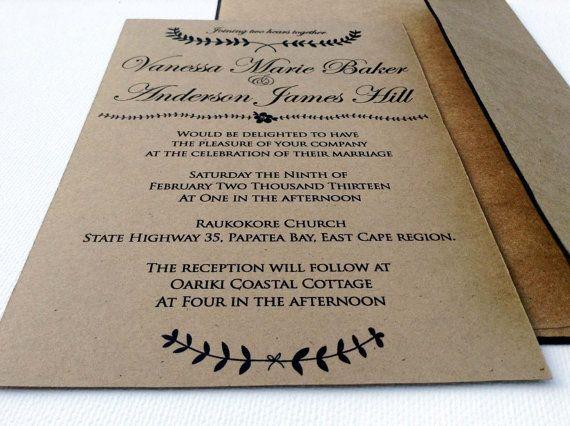 Set of 25 Classic wedding Invitations Wedding by TheFindSac, $75.00