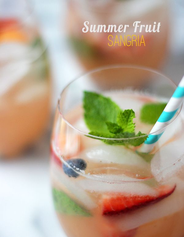 summer-fruit-sangria | Cocktails & Drinks | Pinterest