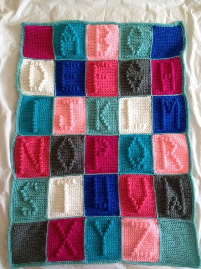 Crocheting Letters On A Blanket : Crochet Alphabet blanket Crochet Pinterest