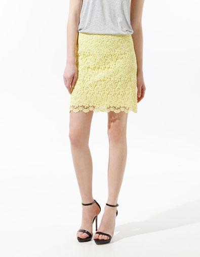 Guipure Lace Mini Skirt, $69.90