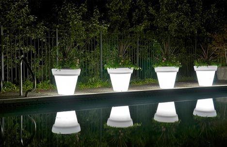 led plant pot lights