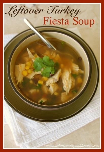 Leftover Turkey Fiesta Soup! The perfect way to use up some of that ...