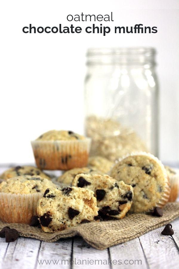 Oatmeal Chocolate Chip Muffins | Melanie Makes | You've GOTTA Make ...