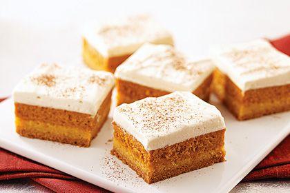 NEW Maple-Pumpkin Pie Bars | Food :) | Pinterest
