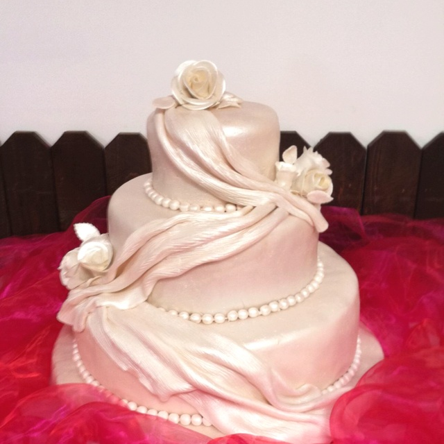 Cake Ideas For Pearl Wedding Anniversary : Pearl anniversary cake Our 30th Wedding Anniversary ...